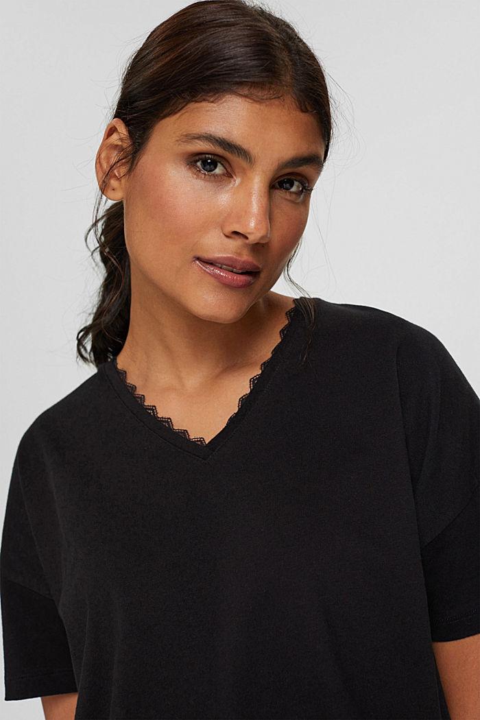 Pyjama en jersey, 100% coton biologique, BLACK, detail image number 4
