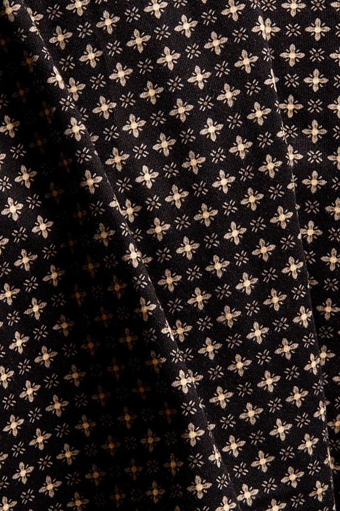 Jersey nachthemd van 100% biologisch katoen, BLACK, detail image number 4