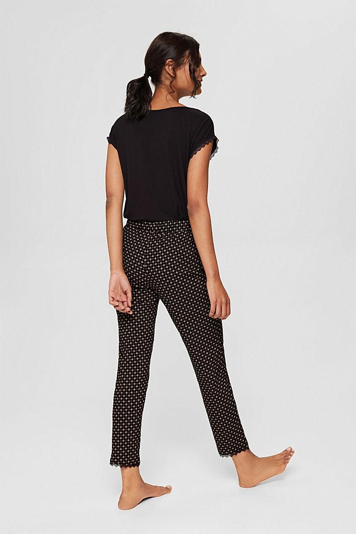 Pantalon de pyjama en jersey 100% coton biologique, BLACK, detail image number 3