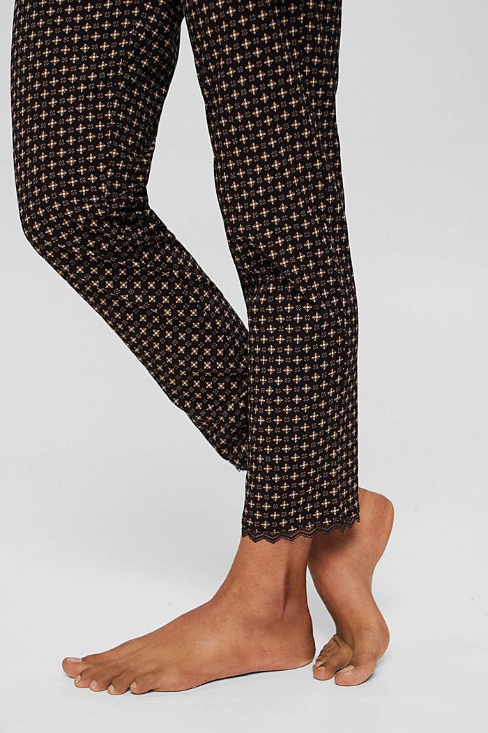 Pantalon de pyjama en jersey 100% coton biologique, BLACK, detail image number 2