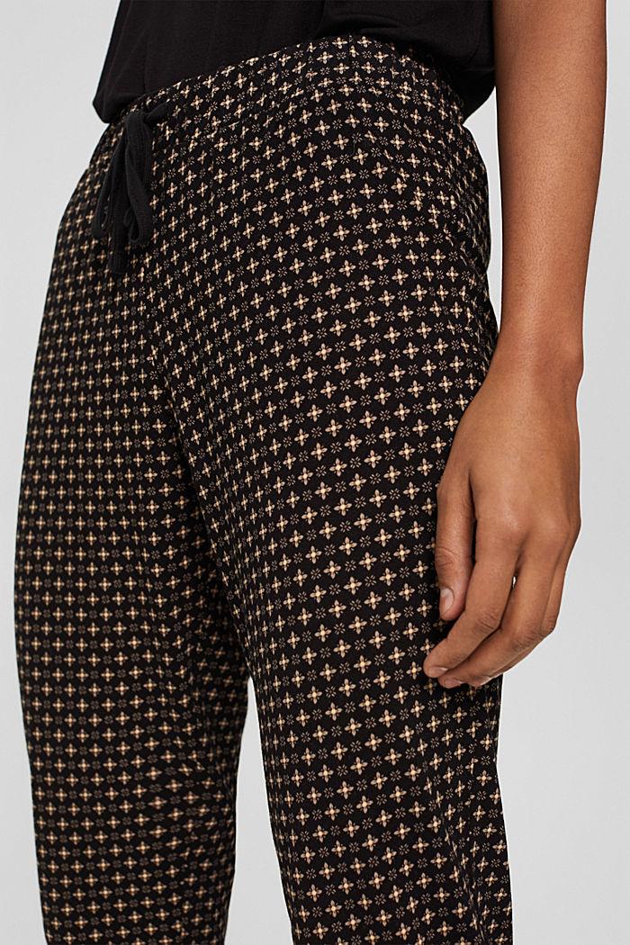 Pantalon de pyjama en jersey 100% coton biologique, BLACK, detail image number 5