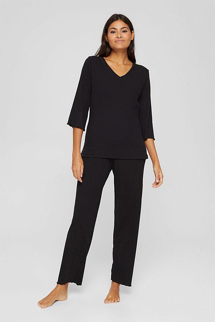 Pyjamas, BLACK, detail image number 1