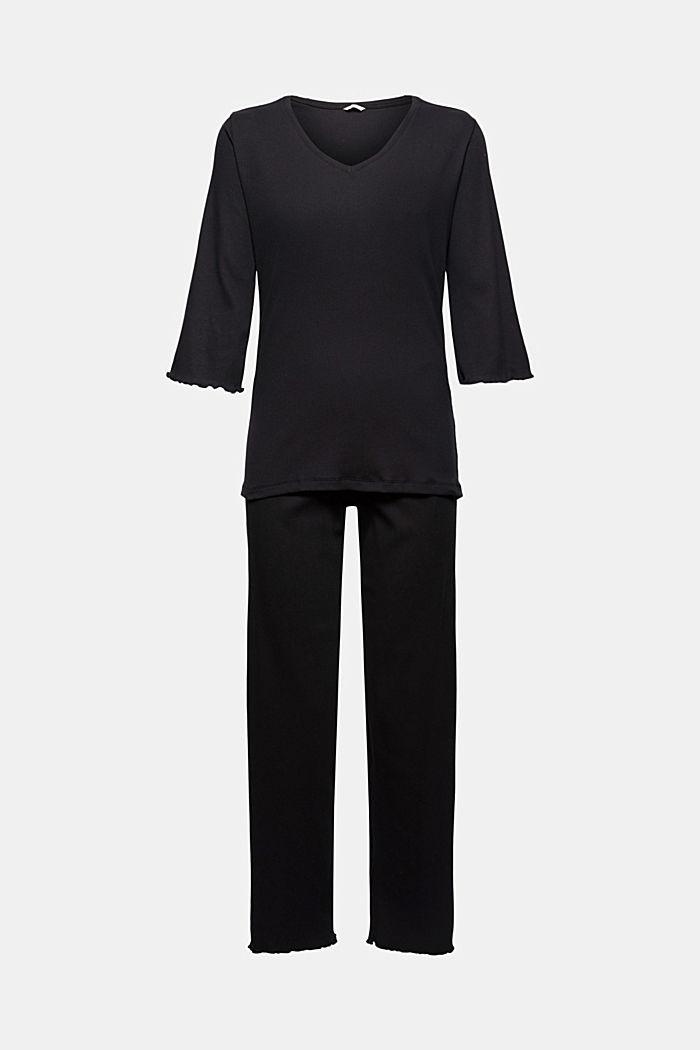 Pyjamas, BLACK, detail image number 5
