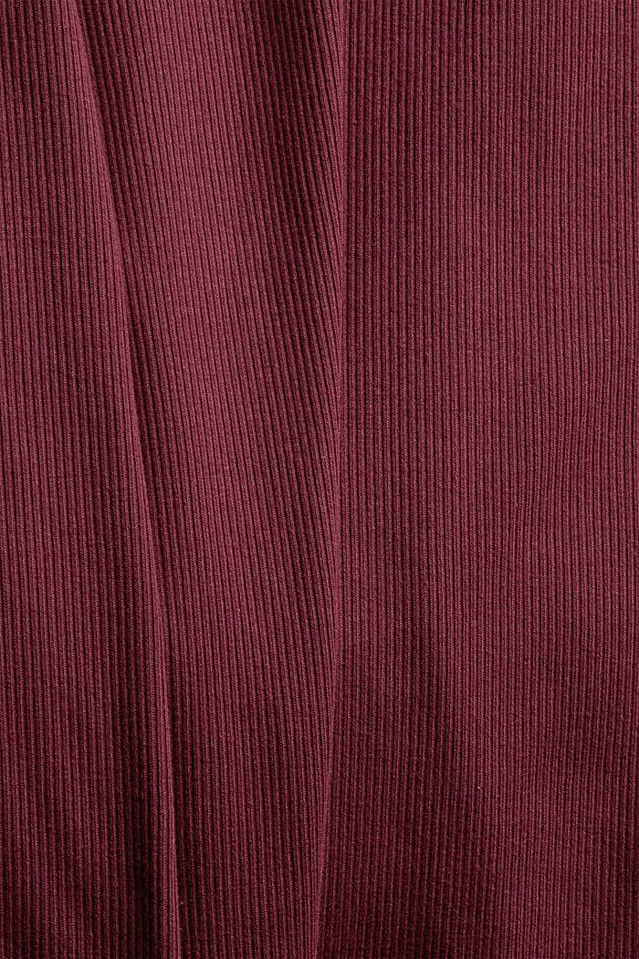 Gerippter Pyjama aus Baumwoll-Jersey, DARK RED, detail image number 3