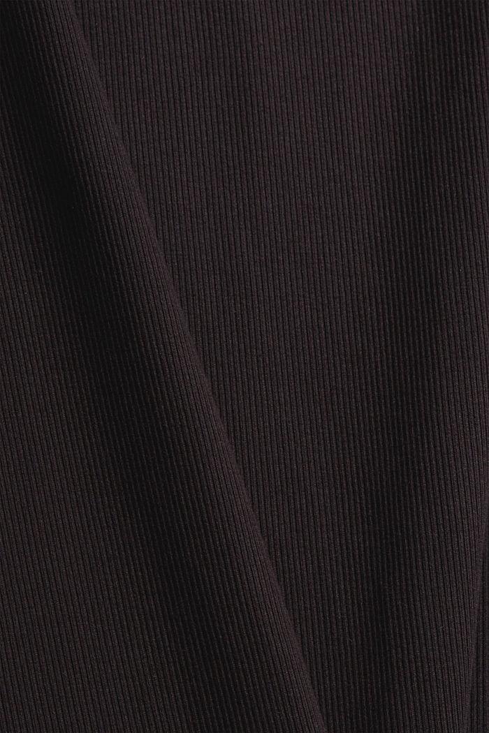 Geribd nachthemd van katoenen jersey, BLACK, detail image number 4