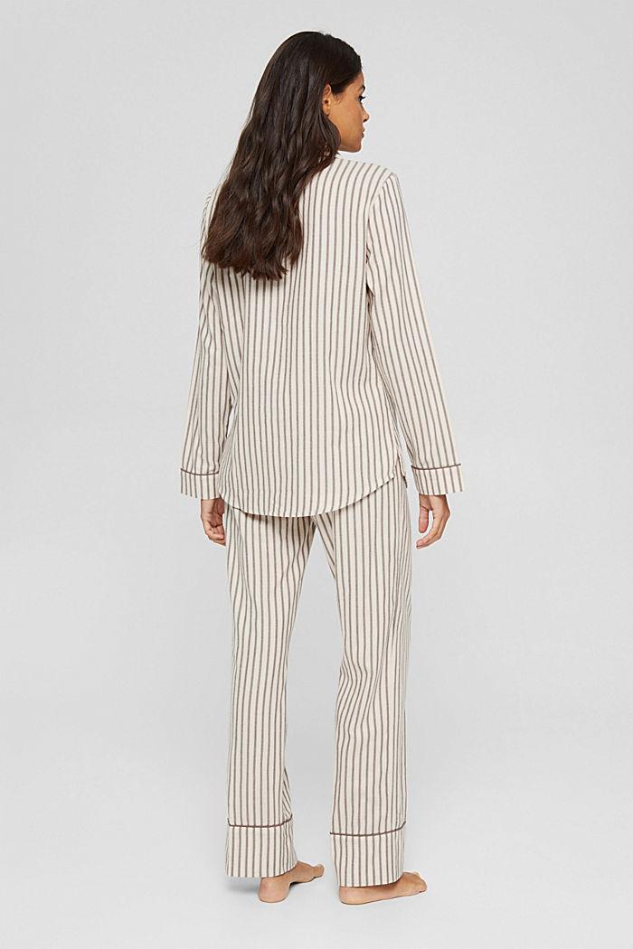 Pyjama aus 100% Organic Cotton, TAUPE, detail image number 2