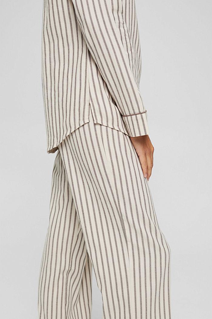 Pyjama aus 100% Organic Cotton, TAUPE, detail image number 3
