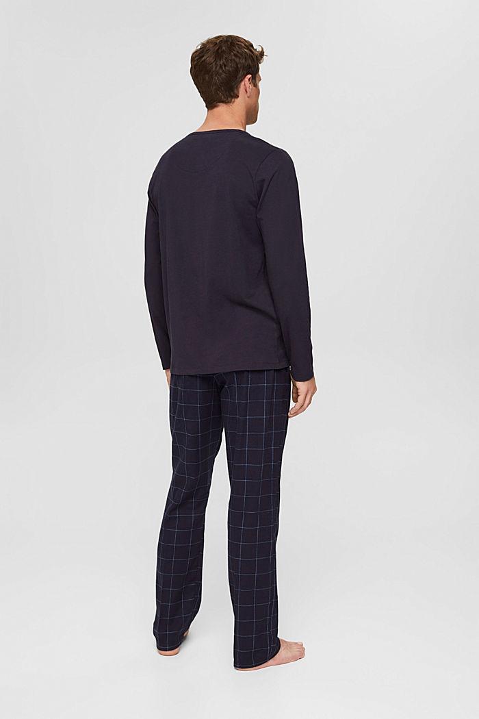 Langer Pyjama aus Organic Cotton, NAVY, detail image number 2