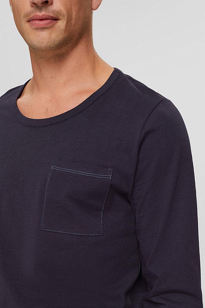 Langer Pyjama aus Organic Cotton, NAVY, detail image number 3