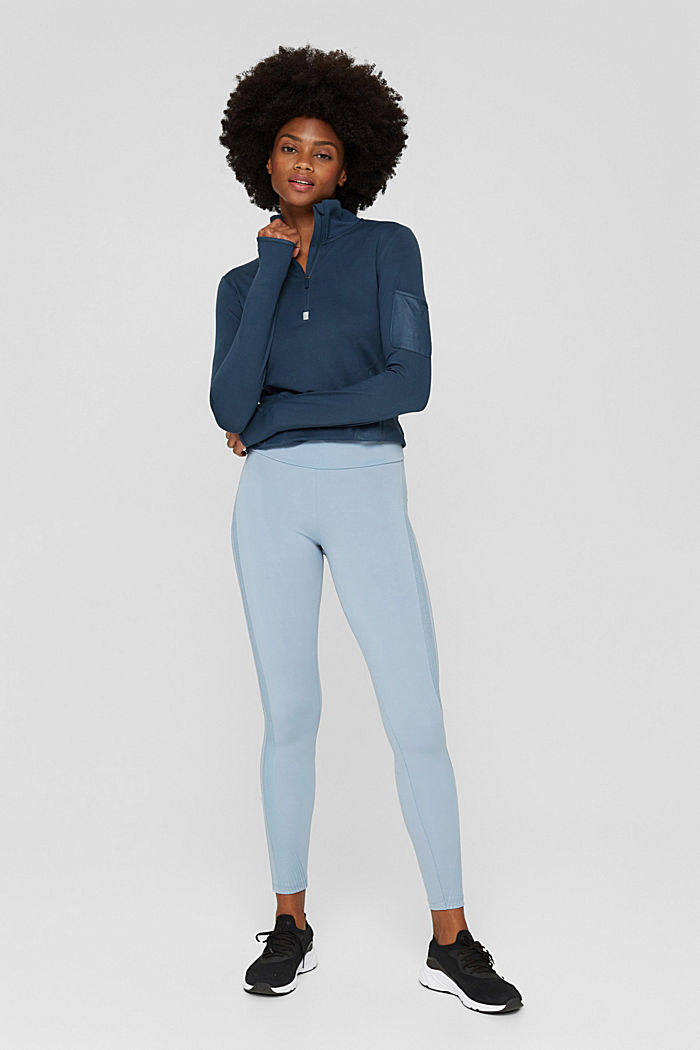 Pants knitted, PASTEL BLUE, detail image number 1