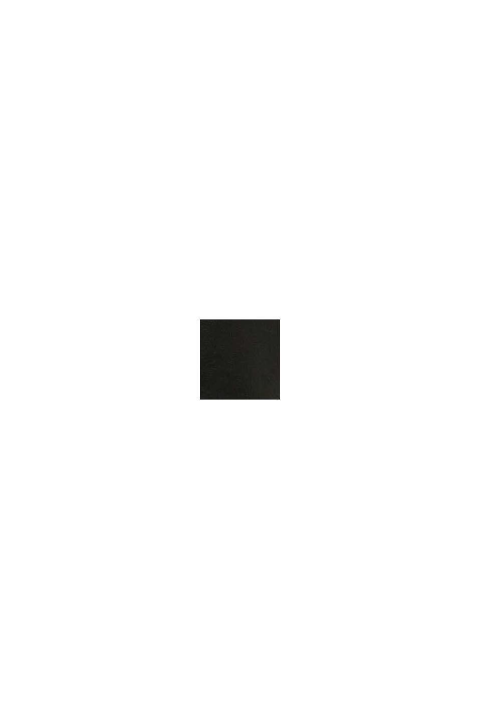 Sznurowane botki z imitacji skóry, BLACK, swatch