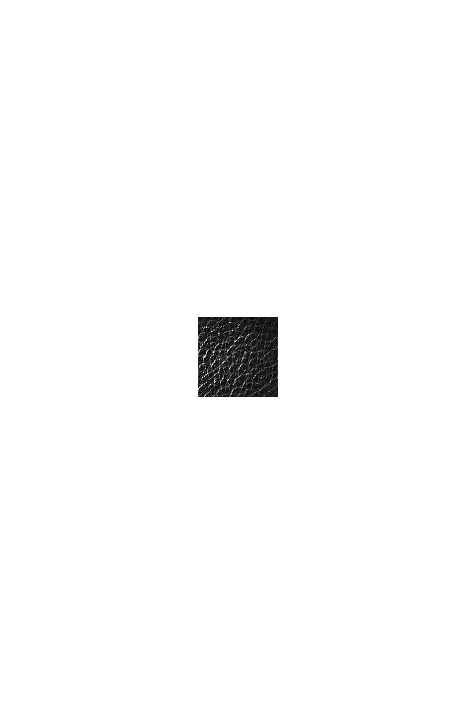 Botki z ekoskóry z logo, BLACK, swatch