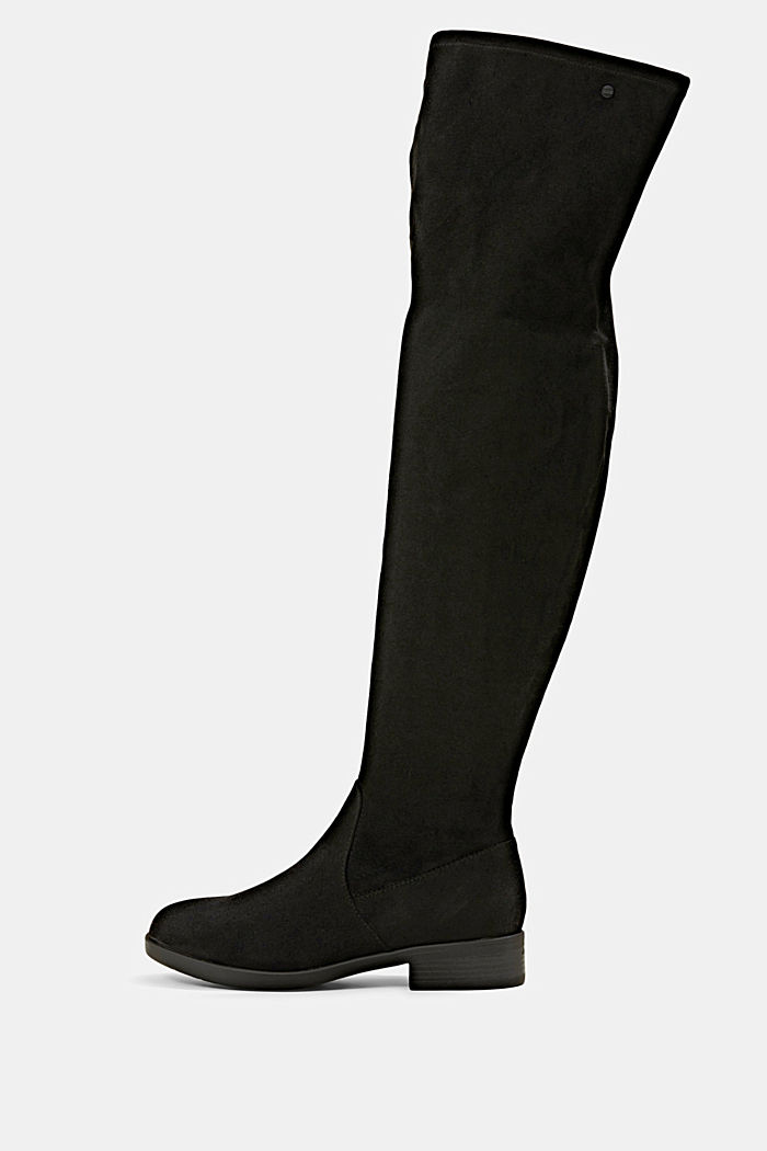 Over-knee boots in faux suede