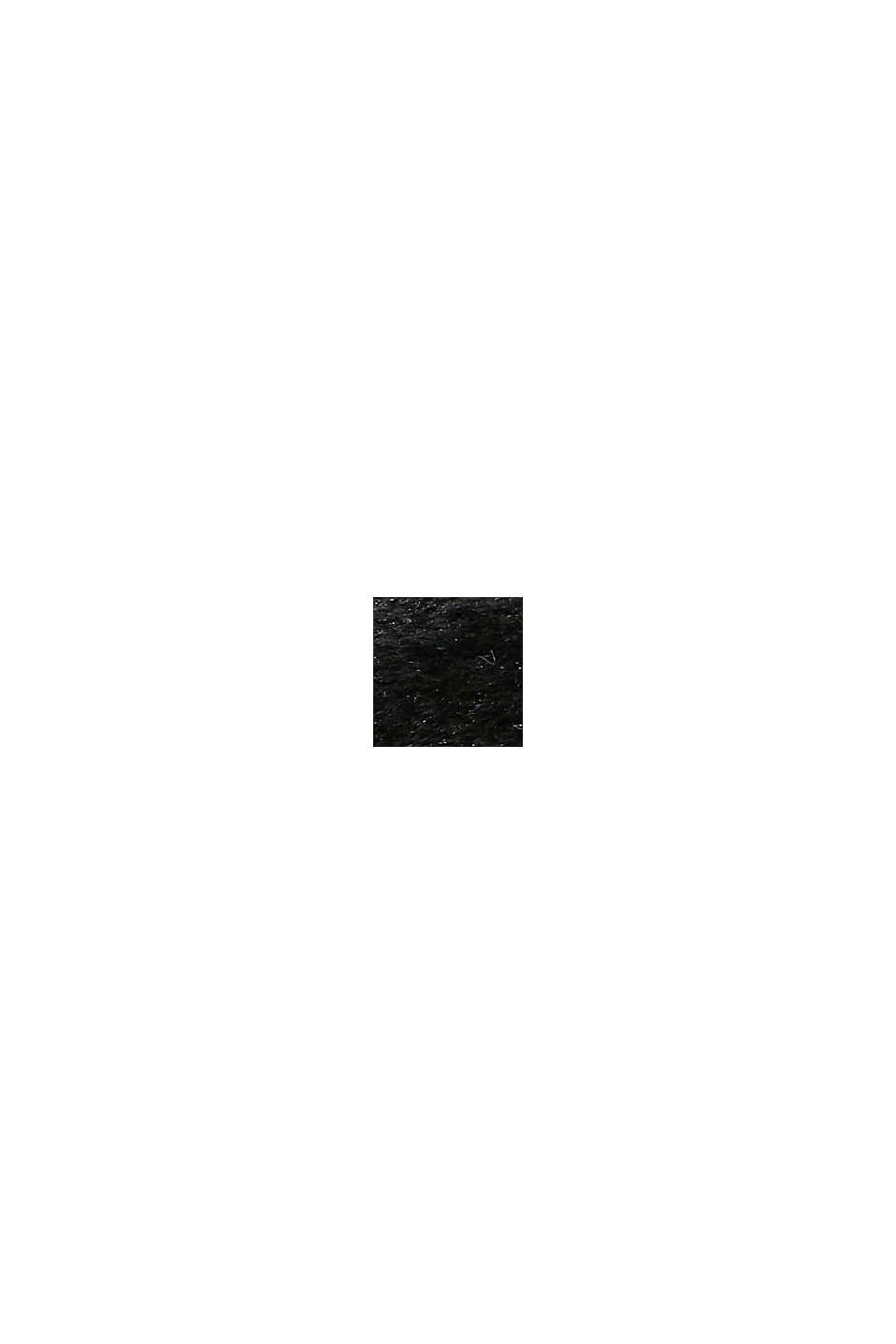 Mules ornées de peluche, BLACK, swatch