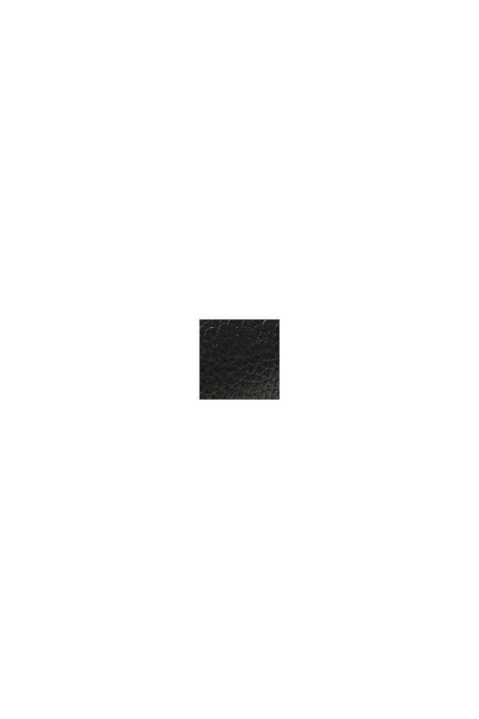 Af læder: snørestøvler med bred sål, BLACK, swatch