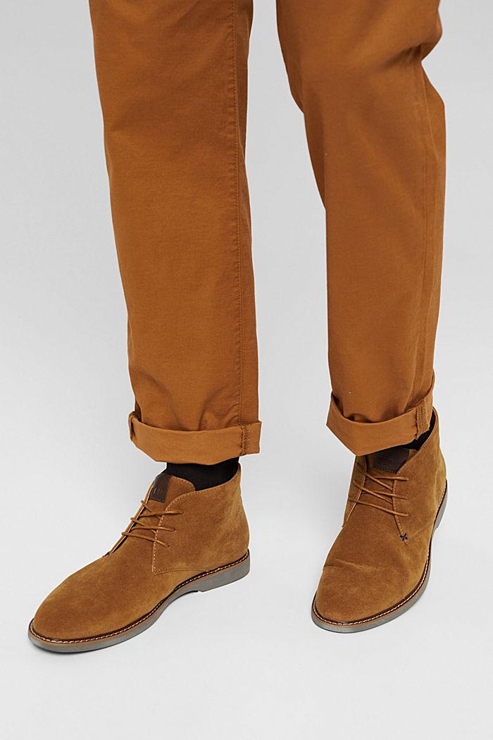 Bottes à lacets d'aspect cuir velours