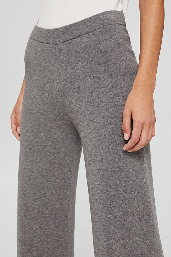 Hose aus gebrushtem Jersey mit weitem Bein, GUNMETAL, detail image number 2