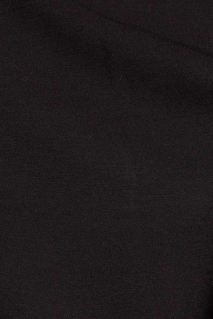 Broek van jersey met zoomsplitten, BLACK, detail image number 4