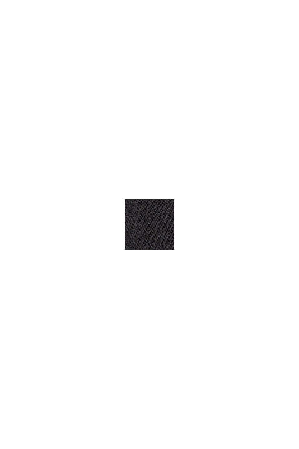 Fließende Satinhose mit weitem Bein, BLACK, swatch