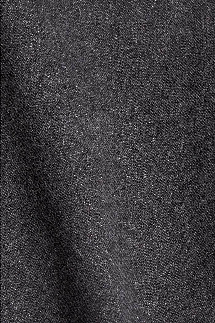 Jean court authentique en coton biologique, GREY DARK WASHED, detail image number 4