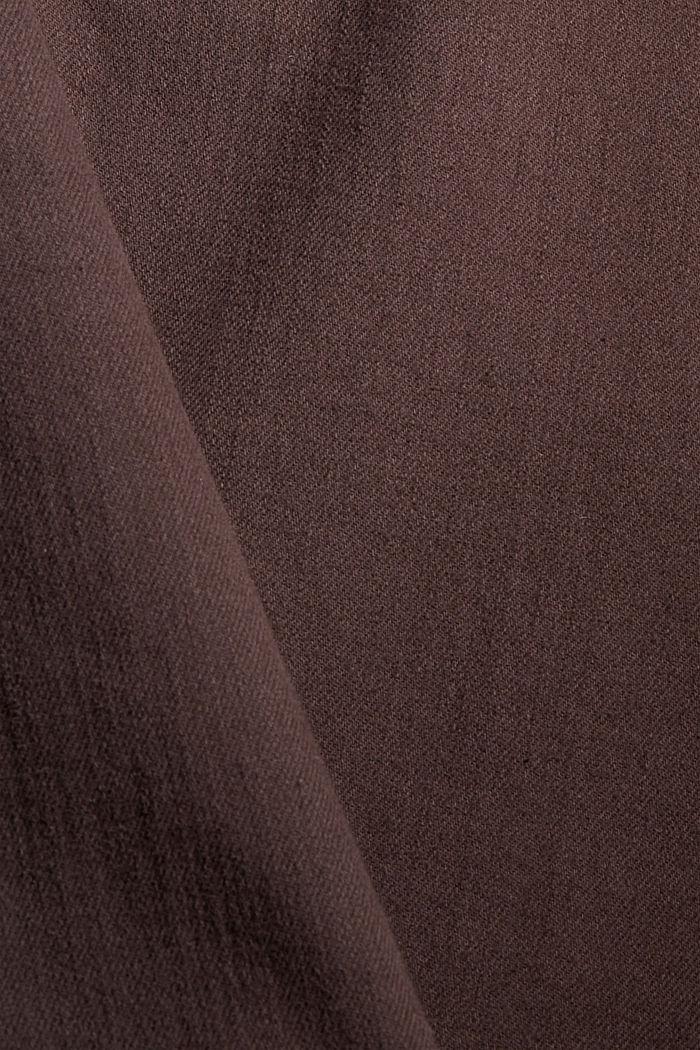 Gekleurde stretchjeans van biologisch katoen, DARK BROWN, detail image number 4