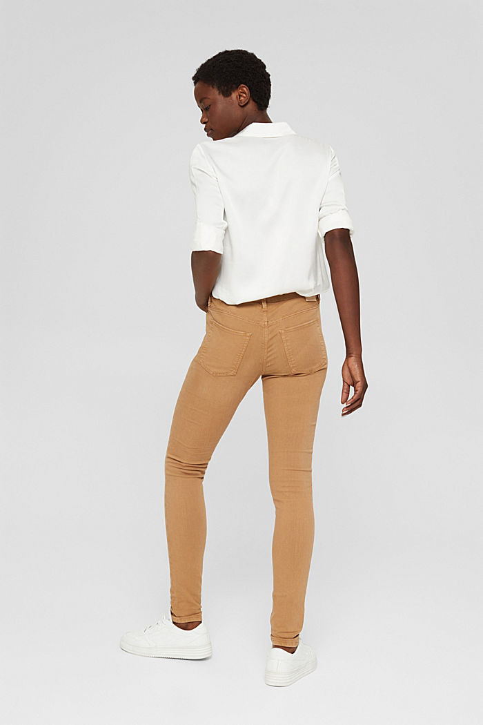 Colored Stretch-Jeans aus Bio-Baumwolle, CARAMEL, detail image number 3