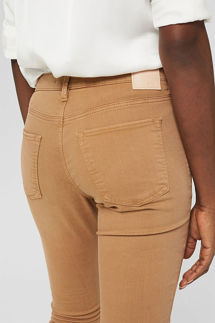 Colored Stretch-Jeans aus Bio-Baumwolle, CARAMEL, detail image number 2