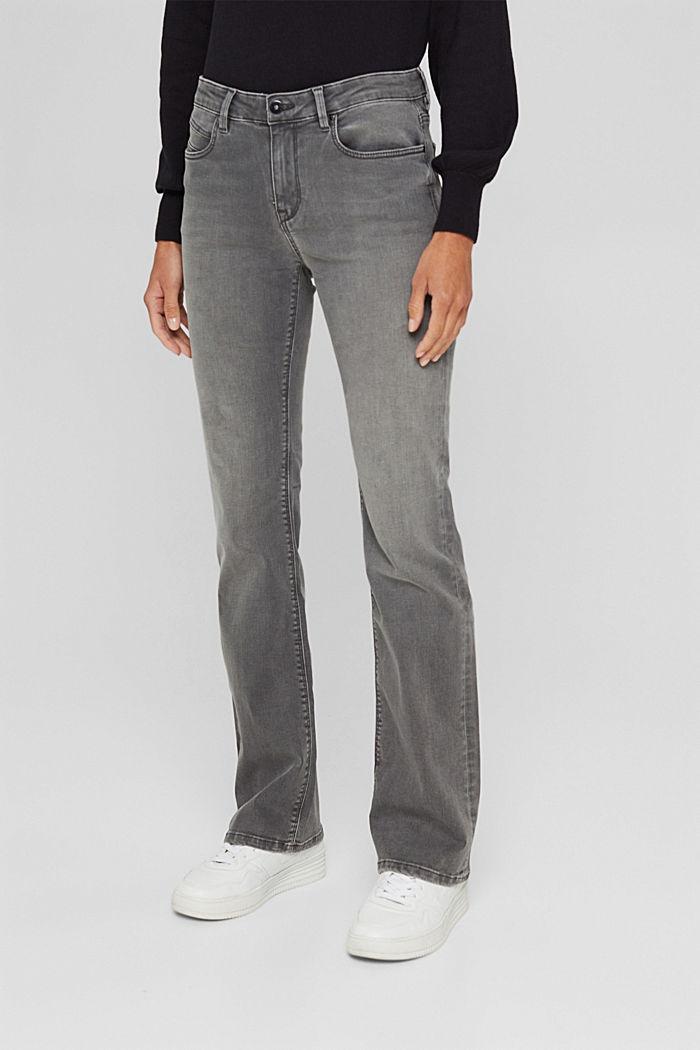Superstretch-Jeans aus Bio-Baumwoll-Mix, GREY MEDIUM WASHED, detail image number 0