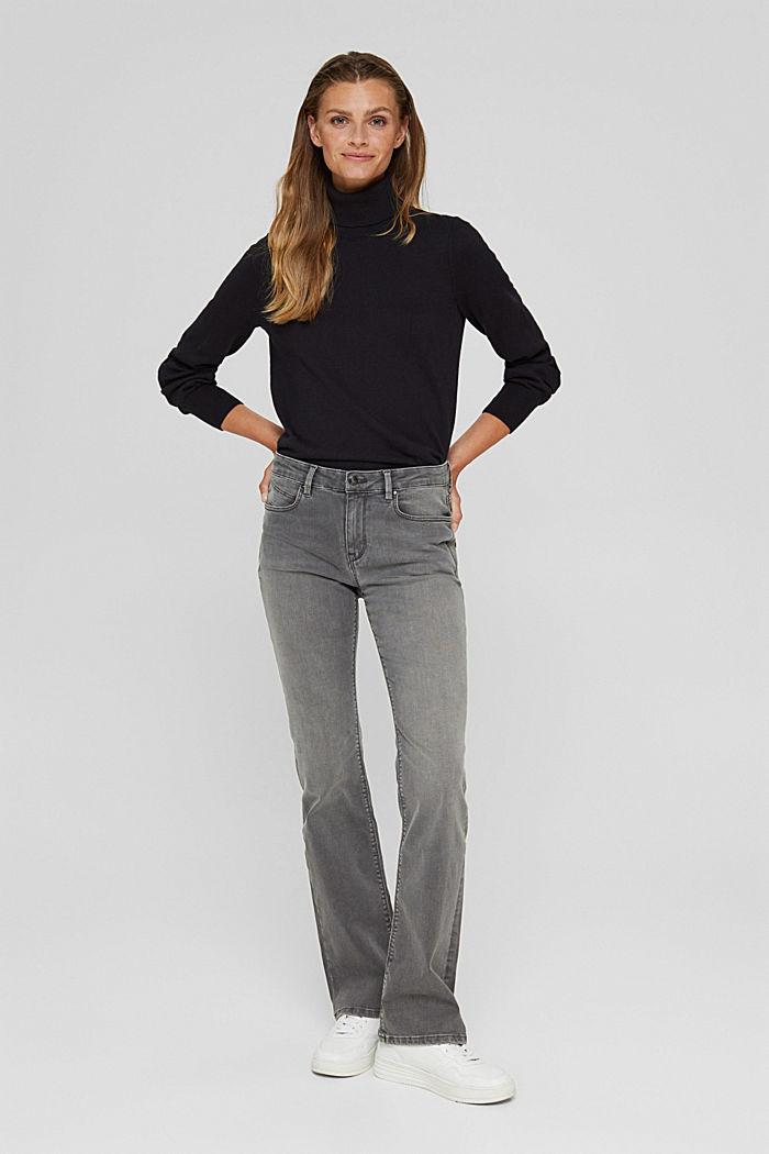 Superstretch-Jeans aus Bio-Baumwoll-Mix, GREY MEDIUM WASHED, detail image number 5