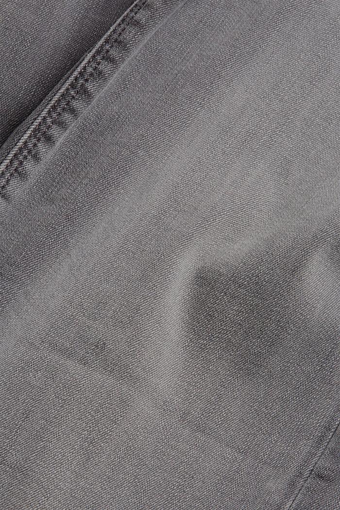 Superstretch-Jeans aus Bio-Baumwoll-Mix, GREY MEDIUM WASHED, detail image number 4