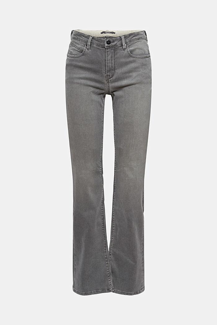 Superstretch-Jeans aus Bio-Baumwoll-Mix, GREY MEDIUM WASHED, detail image number 6