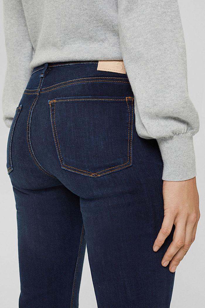 Bootcut jeans van een mix met biologisch katoen, BLUE DARK WASHED, detail image number 2