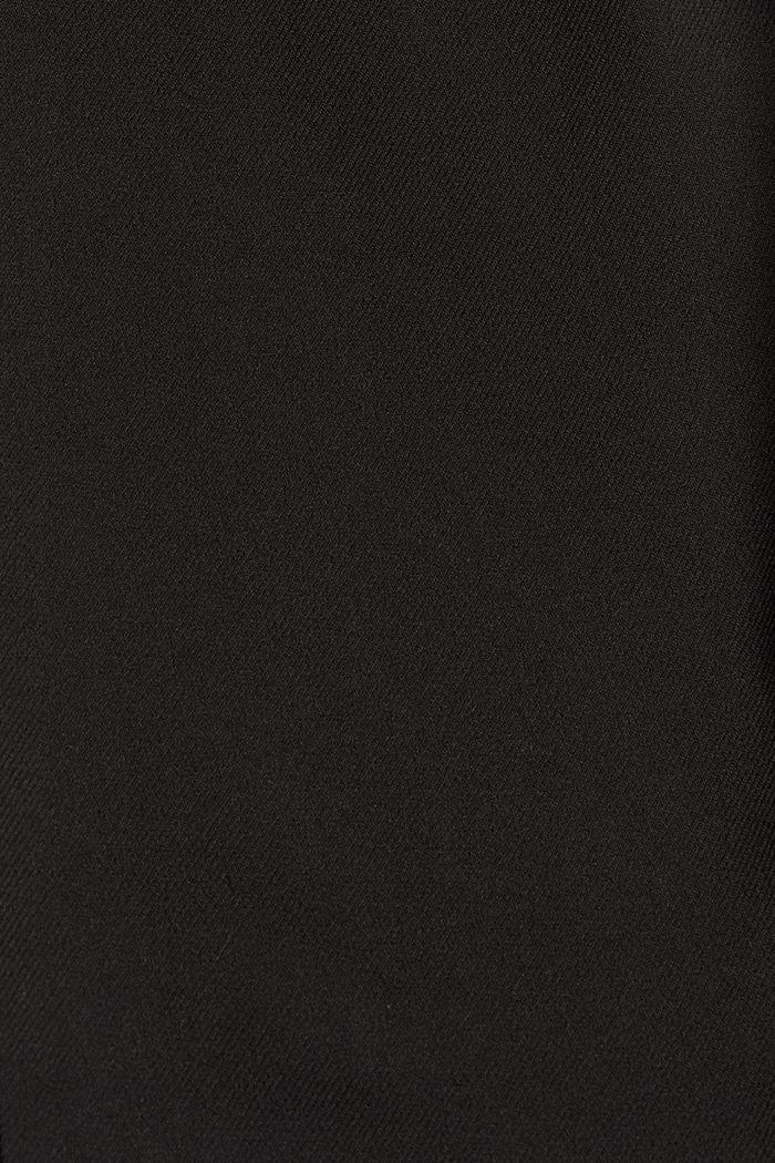 Broek met een hoge taille, zachte touch en persplooien, BLACK, detail image number 4
