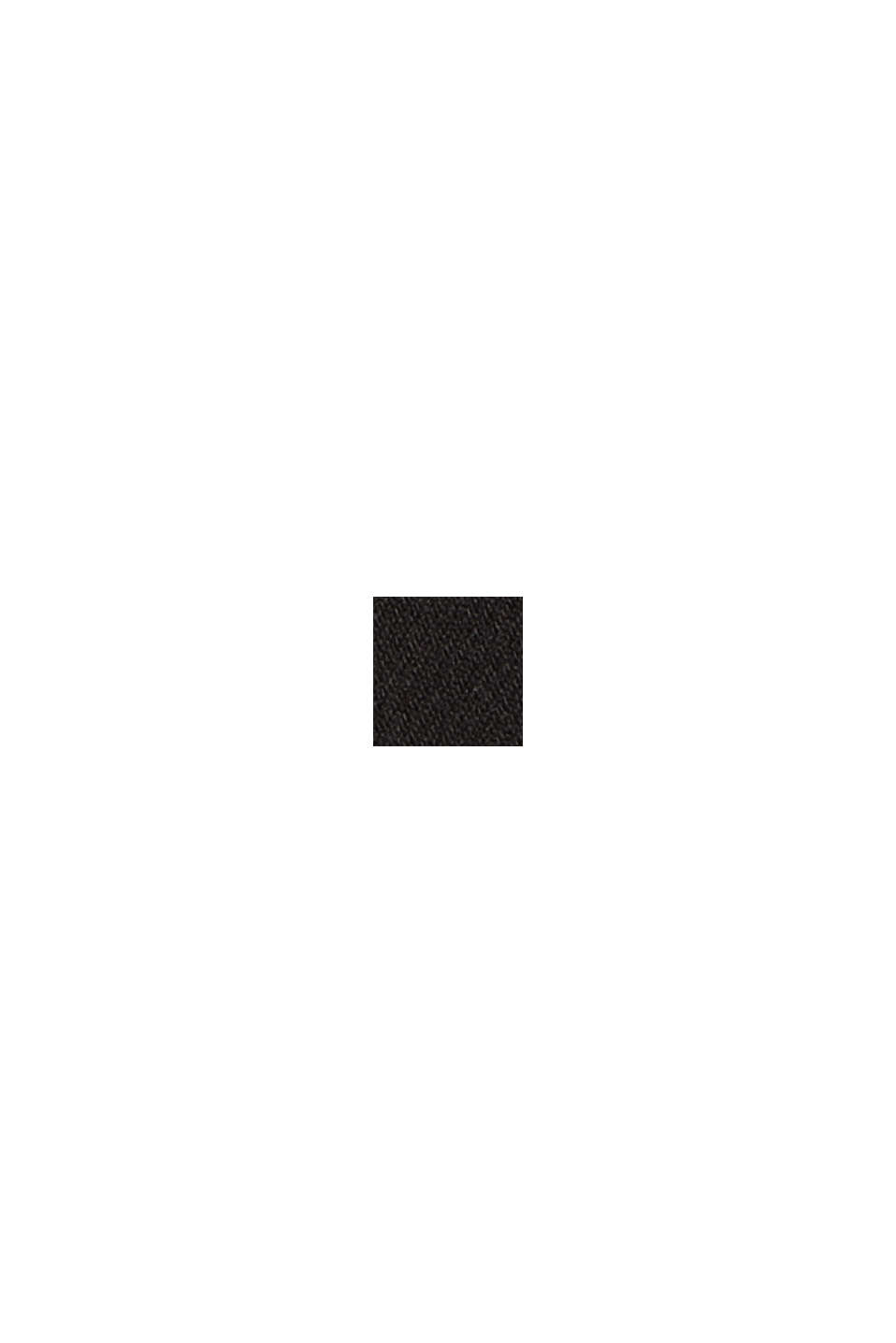 High-Rise-Hose mit weichem Touch und Bügelfalten, BLACK, swatch