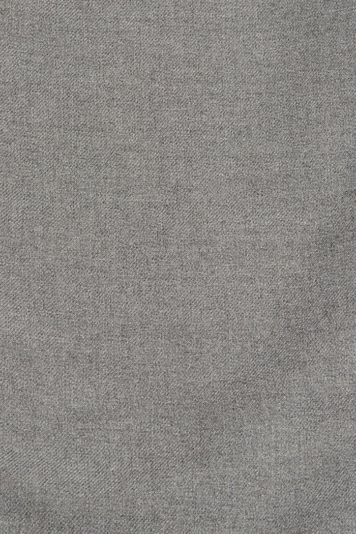 Gerecycled: wijde broek met flanellen touch, GUNMETAL, detail image number 4