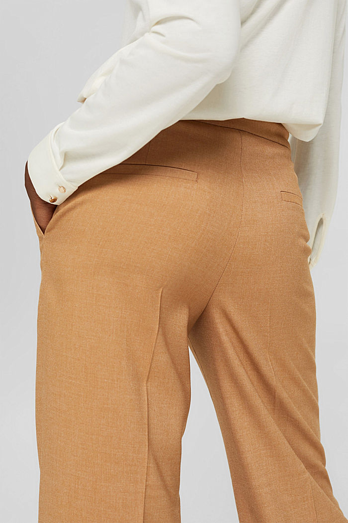 Recycelt: weite Hose mit Flanell-Touch, CARAMEL, detail image number 2