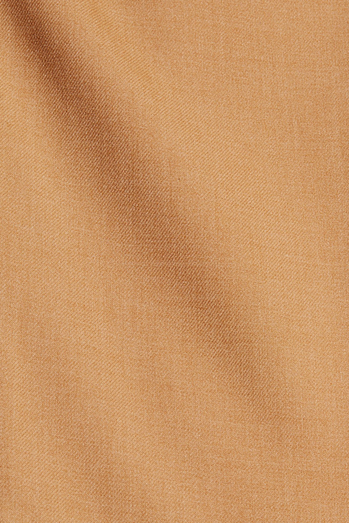 Recycelt: weite Hose mit Flanell-Touch, CARAMEL, detail image number 4