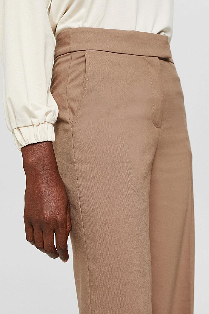 Gerecycled: wijde broek met flanellen touch, TAUPE, detail image number 2