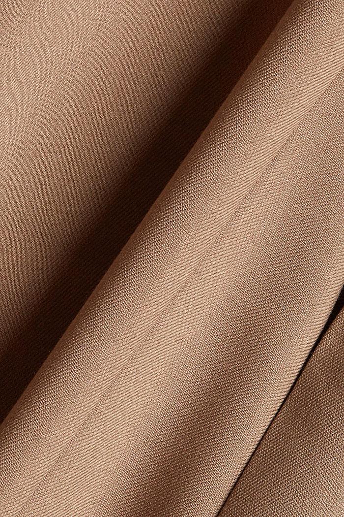 Gerecycled: wijde broek met flanellen touch, TAUPE, detail image number 4