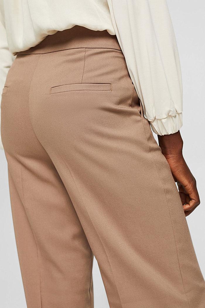 Gerecycled: wijde broek met flanellen touch, TAUPE, detail image number 5