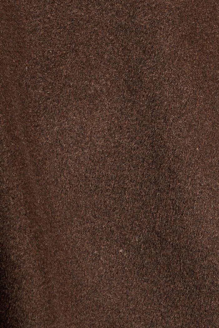 Mit Wolle: Rock in A-Linie, DARK BROWN, detail image number 4