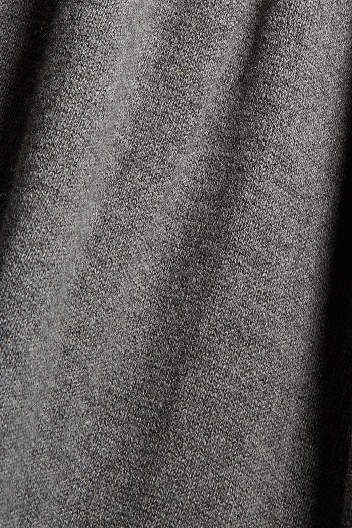 À teneur en cachemire et en laine: la robe maxi longueur en fine maille, GUNMETAL, detail image number 4