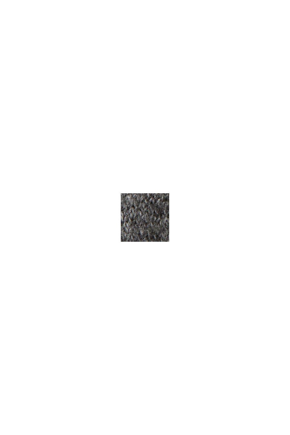 Med kaschmir/ull: Maxiklänning i finstickning, GUNMETAL, swatch