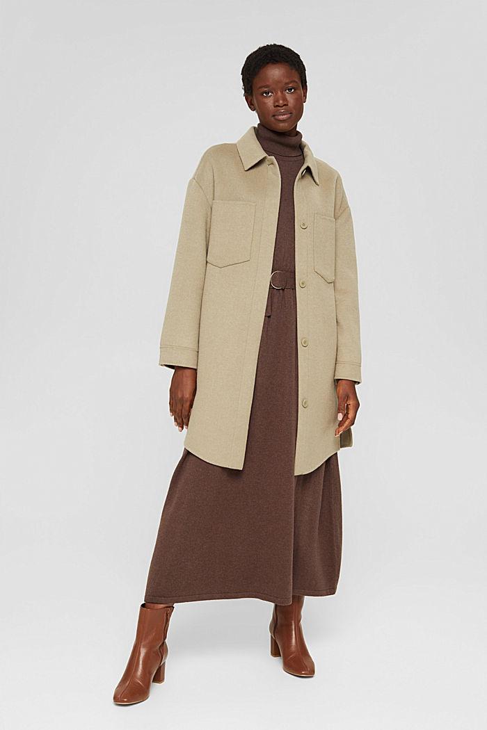 À teneur en cachemire et en laine: la robe maxi longueur en fine maille, NEW DARK BROWN, detail image number 1