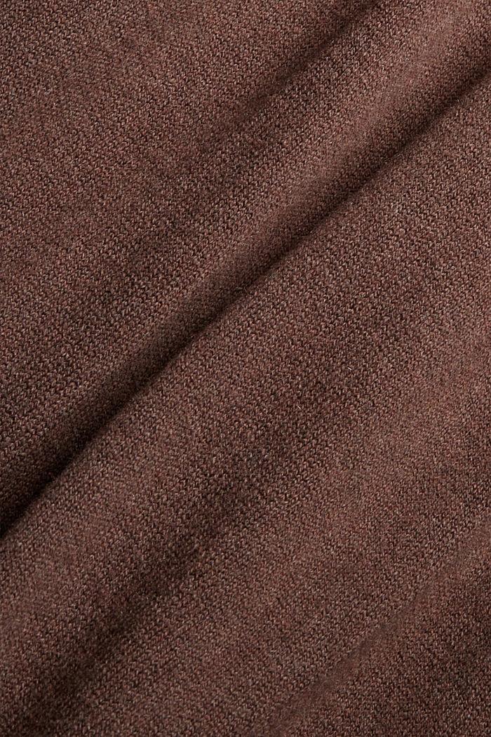 À teneur en cachemire et en laine: la robe maxi longueur en fine maille, NEW DARK BROWN, detail image number 4