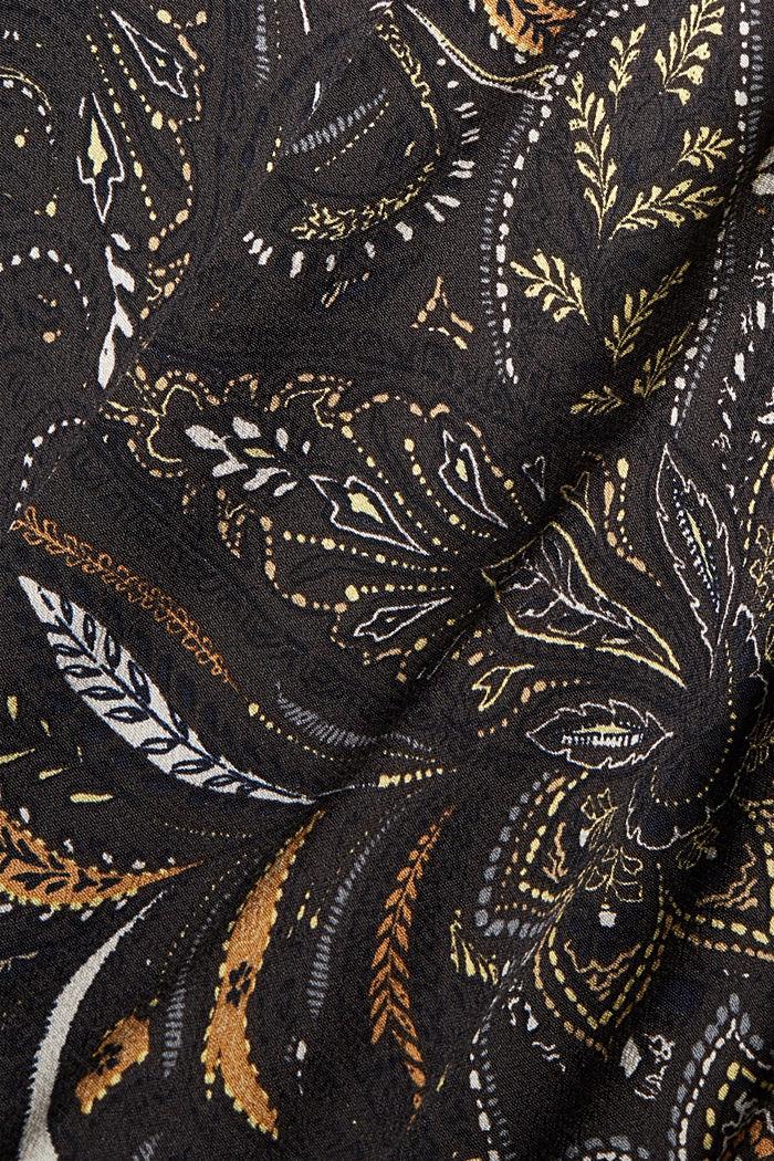 Gebloemde midi-jurk met gesmokte taille, BROWN, detail image number 4