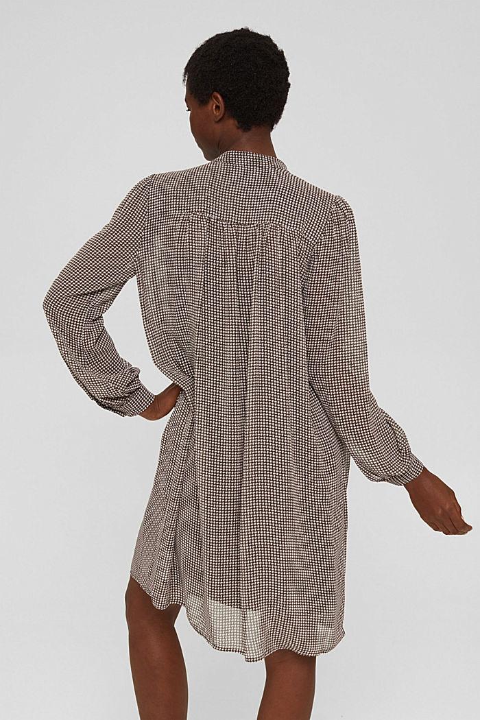 Vestido de gasa con lazada, BROWN, detail image number 2