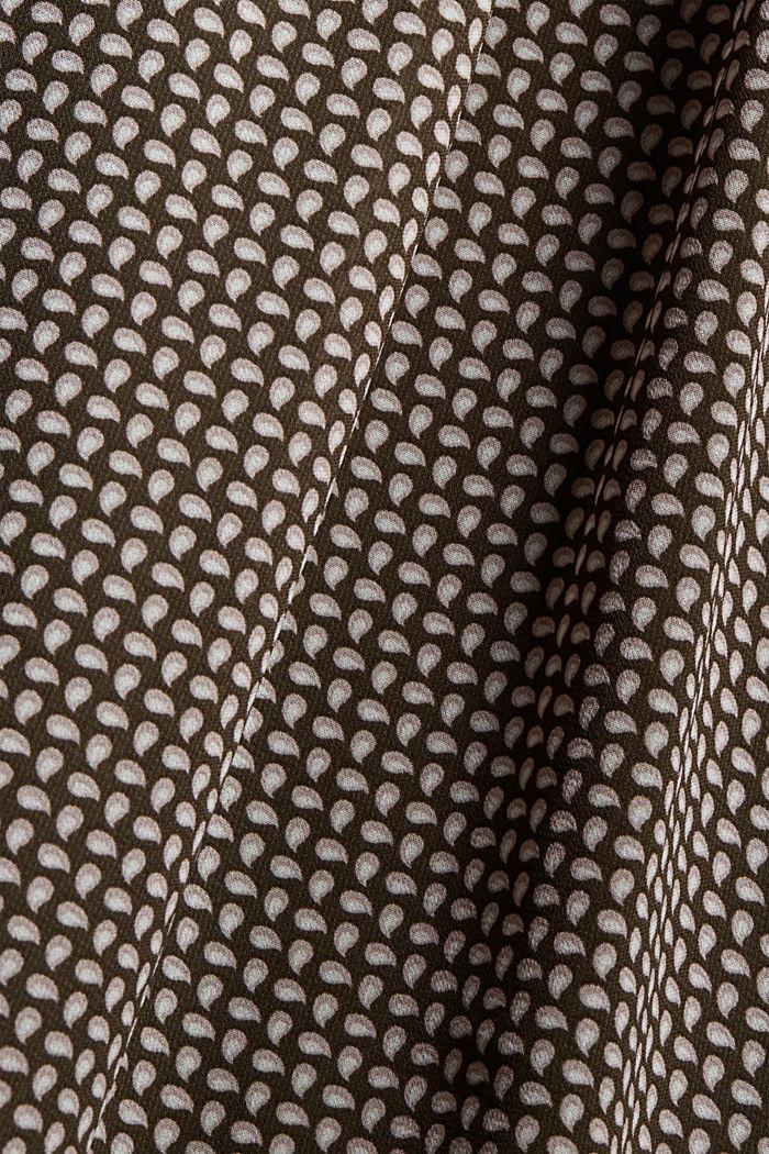 Vestido de gasa con lazada, BROWN, detail image number 4