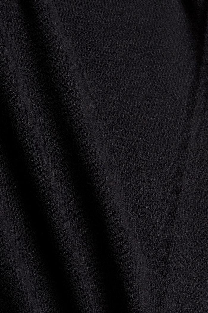 Strickkleid mit Gürtel und LENZING™ ECOVERO™, BLACK, detail image number 4