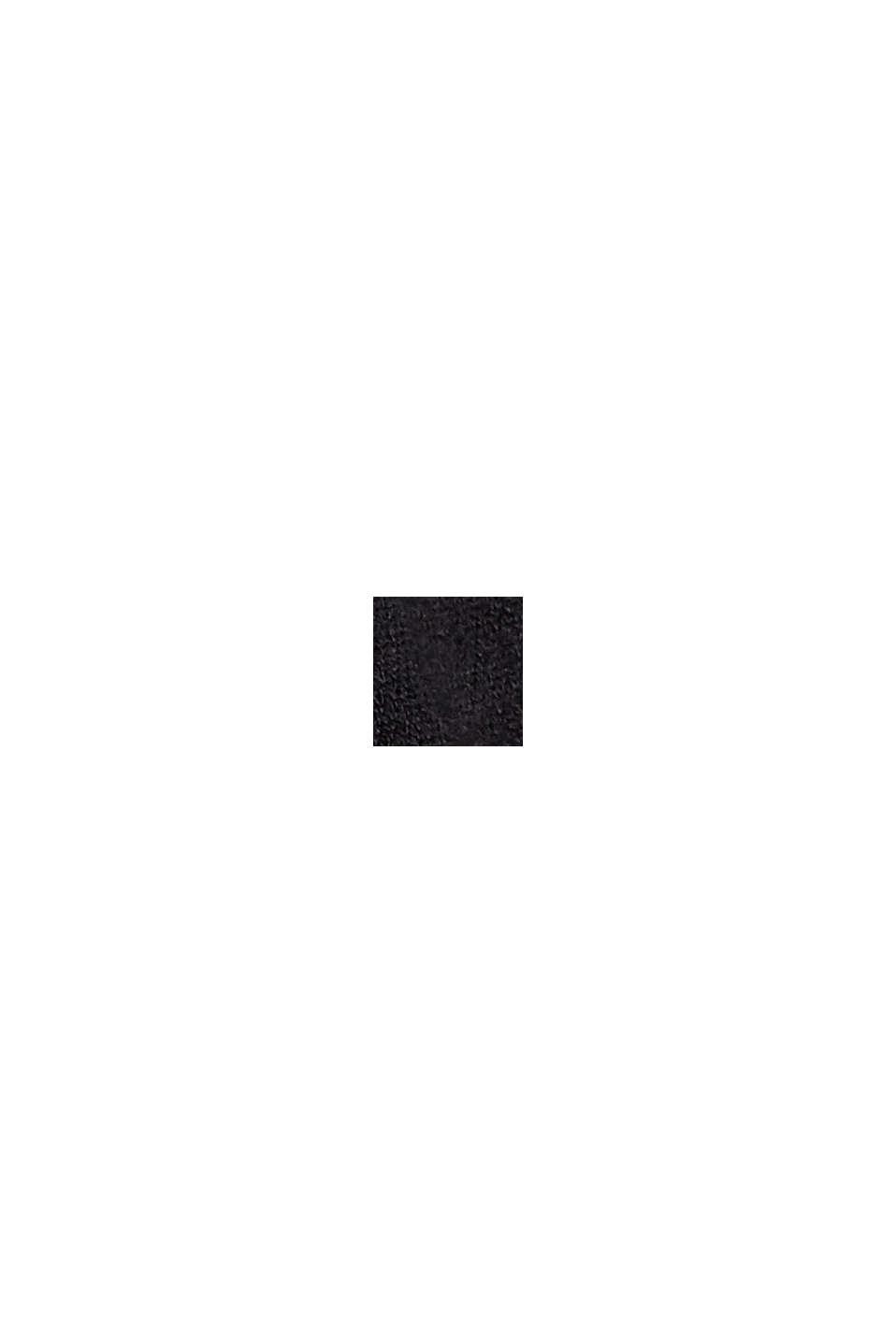 Strickkleid mit Gürtel und LENZING™ ECOVERO™, BLACK, swatch